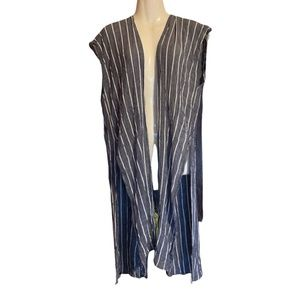 Women's Long Striped Sleeveless Cover-Up O/S